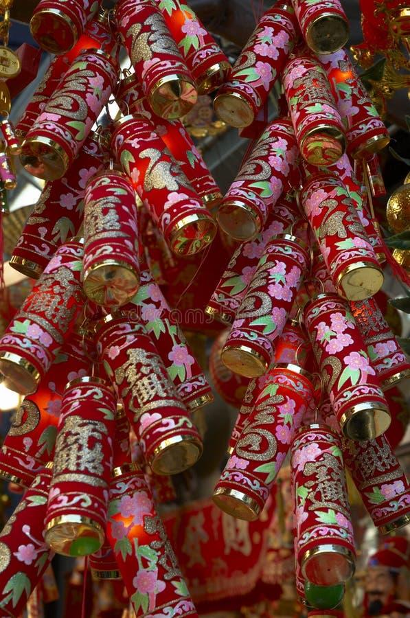 Chinese decoratie 4 van het Nieuwjaar stock foto's
