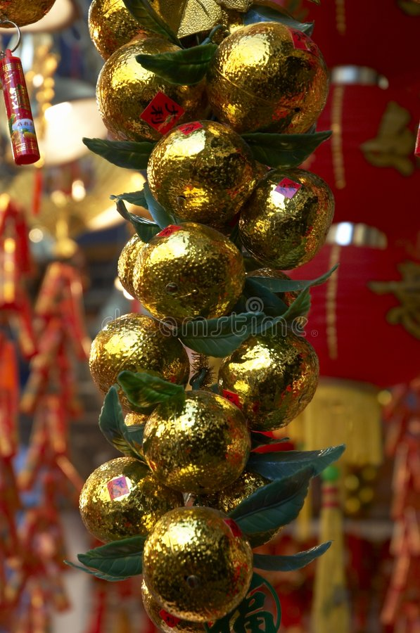 Chinese decoratie 5 van het Nieuwjaar stock fotografie
