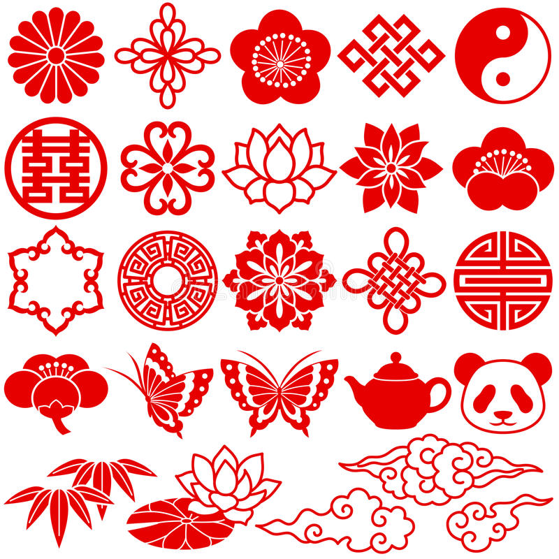 Free Chinese Decorative Icons Royalty Free Stock Photo - 16821415