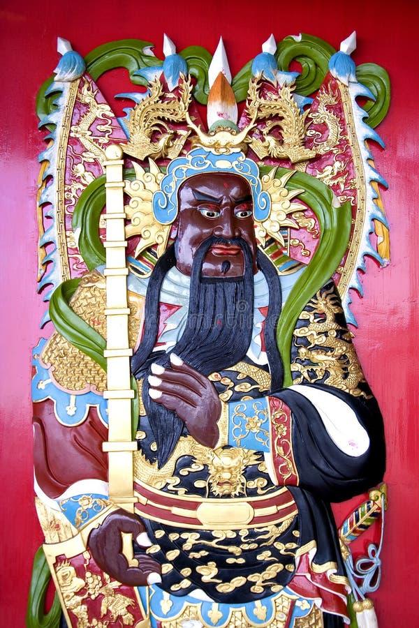 Chinese Deity van de Tempel stock illustratie