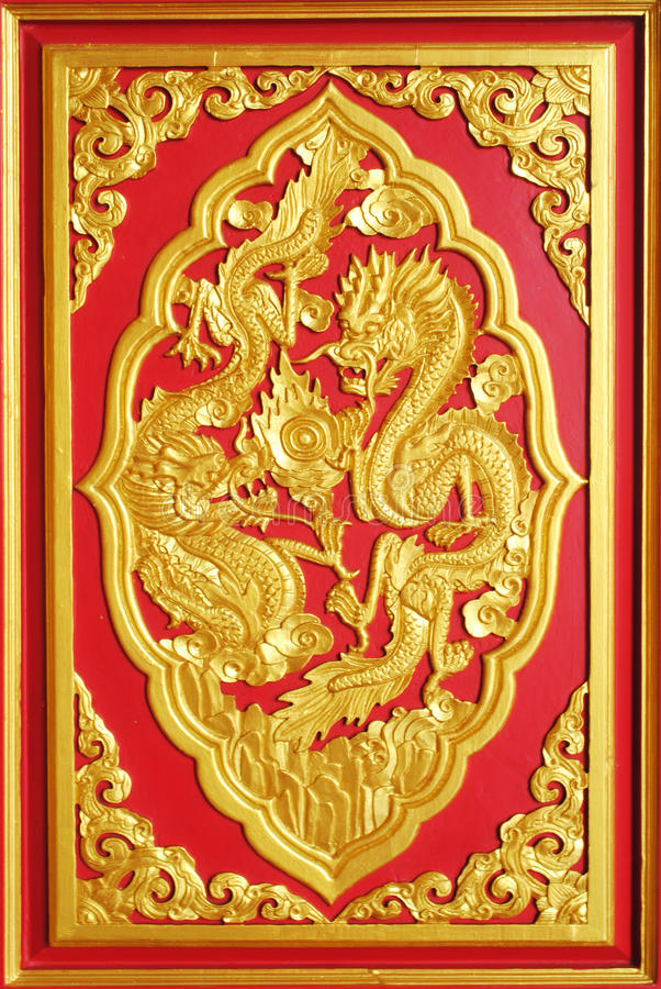 Chinese design. The chinese design is on the wall royalty free stock image