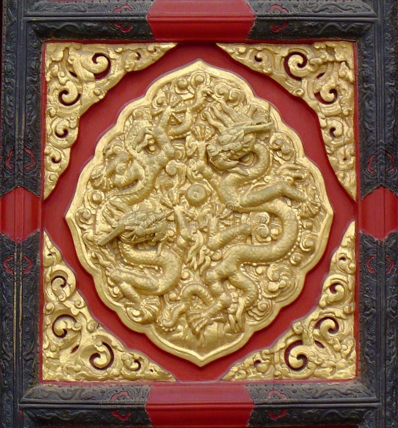 Chinese Design - Door Panel Royalty Free Stock Photos