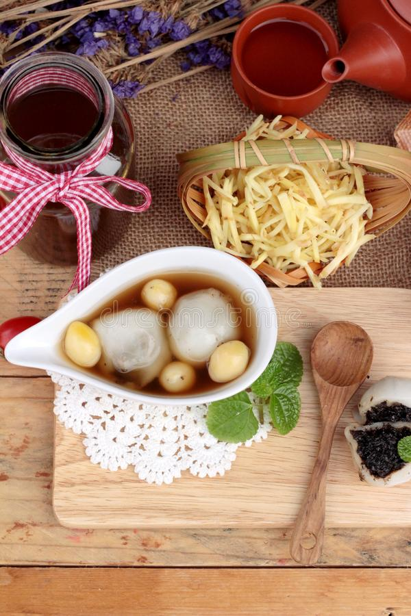 Free Chinese Dessert ,glutinous Rice Balls In Ginger Soup. Royalty Free Stock Image - 68103536