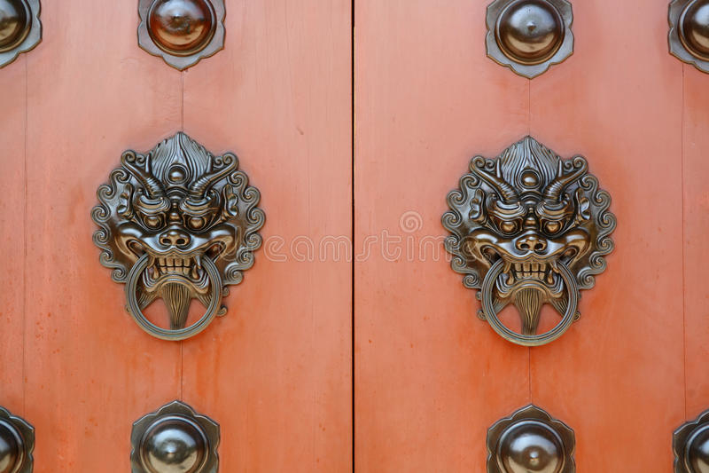Chinese deur royalty-vrije stock fotografie