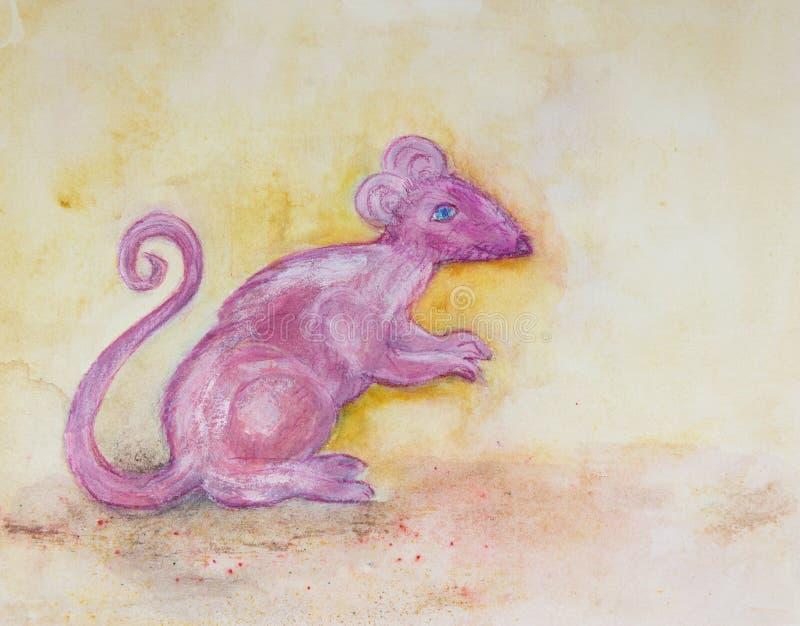 Chinese dierenriem, jaar van de rat stock illustratie