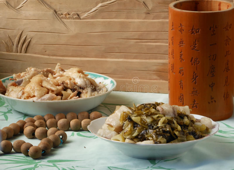 Chinese dining dishes stock images