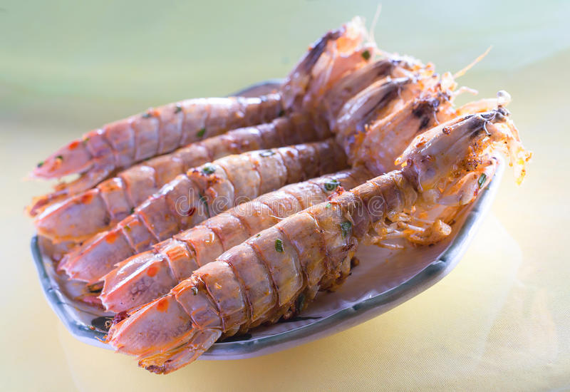 Chinese dish: mantis. This is a kind of Chinese mantis shrimp, we Chinese like fresh mantis shrimp, before we eat, it must be alive. To cook it is quite simple royalty free stock photo