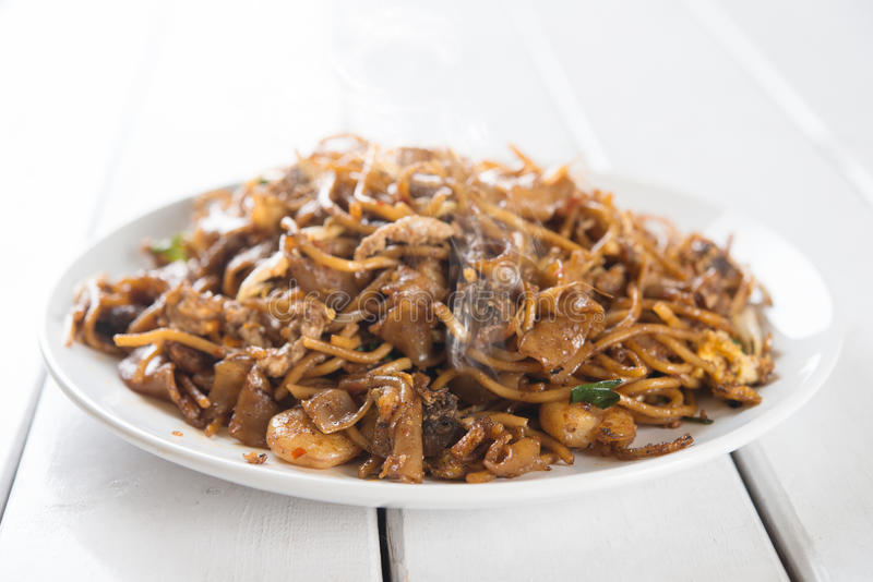 Chinese dish stir fried Char Kuey Teow royalty free stock photography