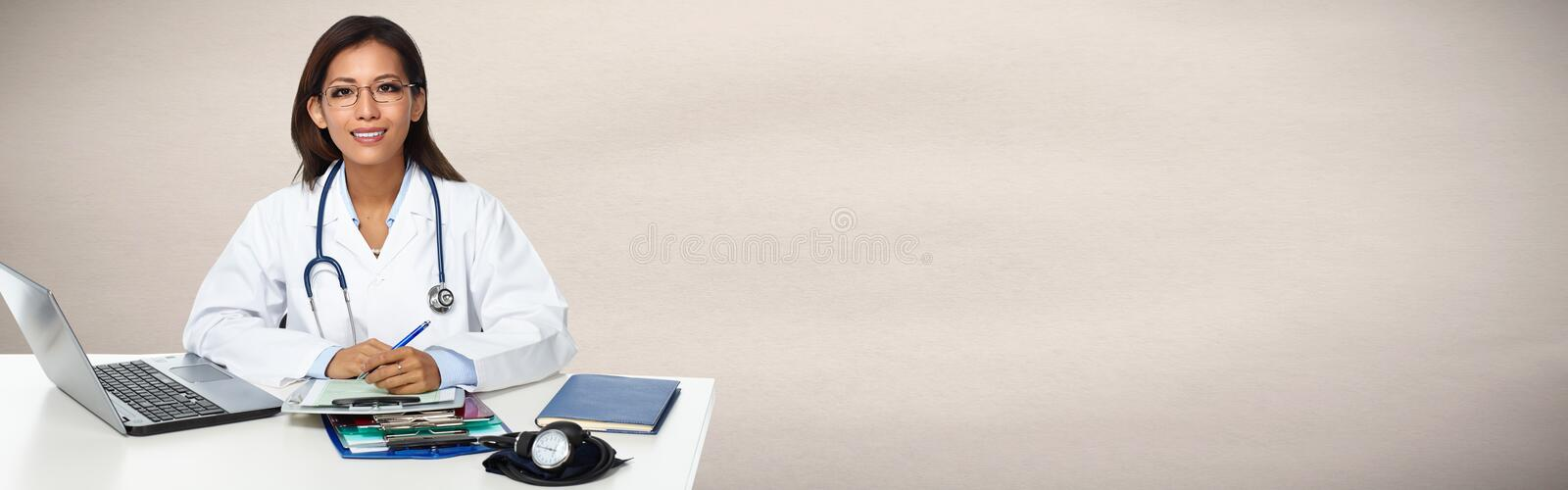 Chinese doctor woman. stock photo