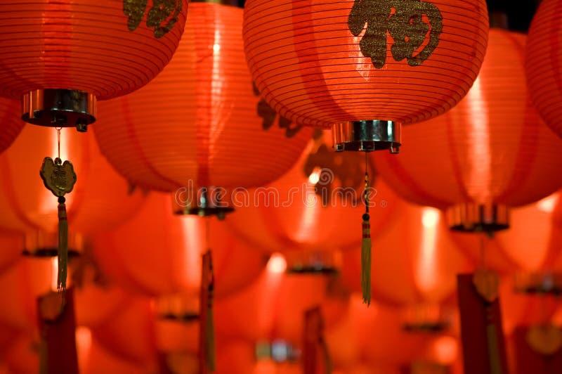 Chinese document lantaarn dichte omhooggaand royalty-vrije stock afbeeldingen