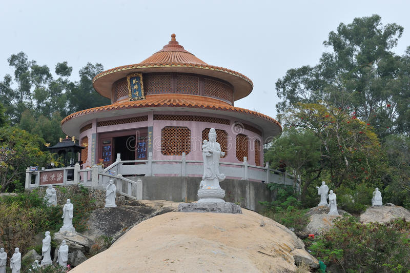 Chinese dongming tempel stock afbeelding