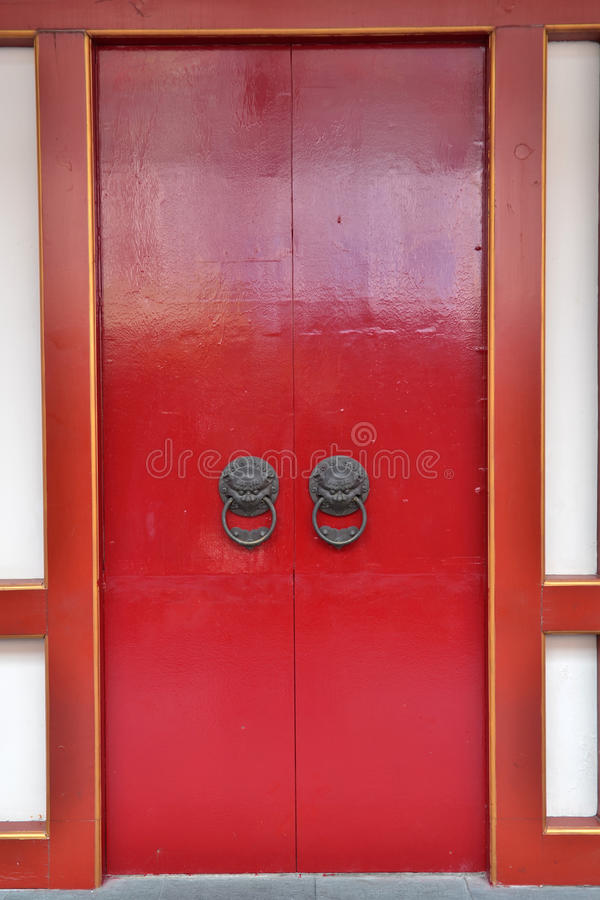 The Chinese door stock photography