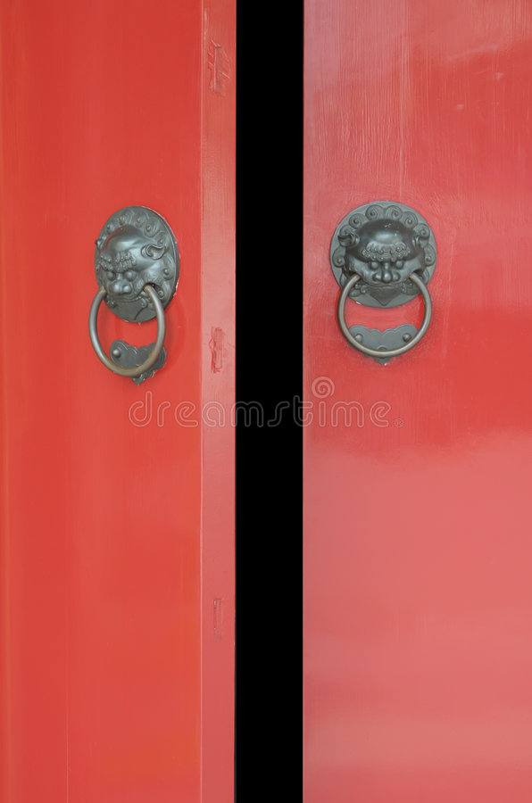 Download Chinese Door Opening Royalty Free Stock Photography - Image: 5132347