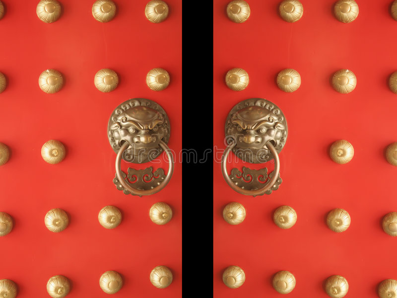 Chinese Doors Temple Entrance Opening Stock Photos