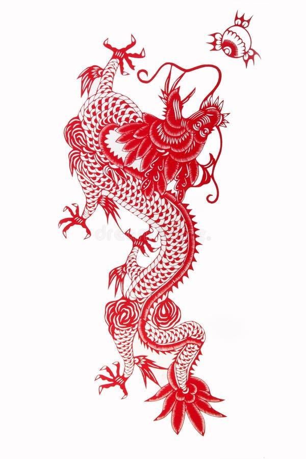 Chinese draak 2012 stock illustratie