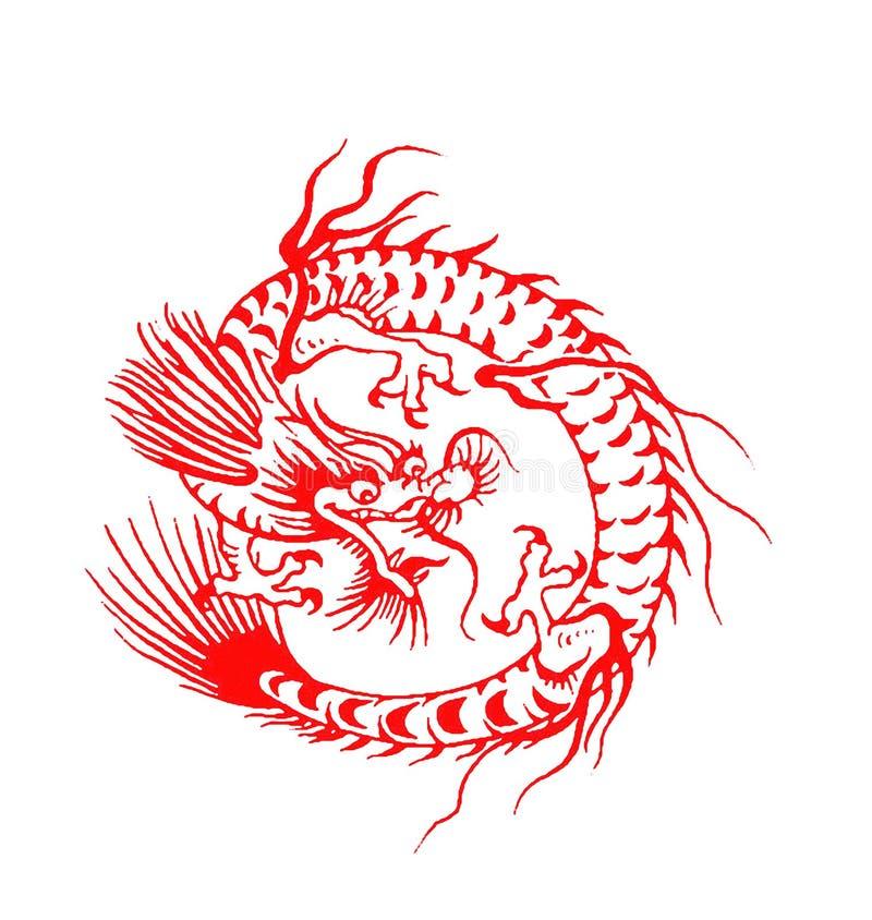 Chinese draak royalty-vrije illustratie