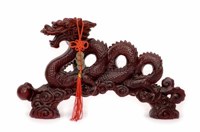 Chinese draak met een parel royalty-vrije stock afbeeldingen