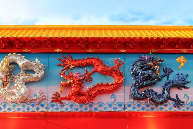Chinese draakmuur royalty-vrije stock afbeeldingen