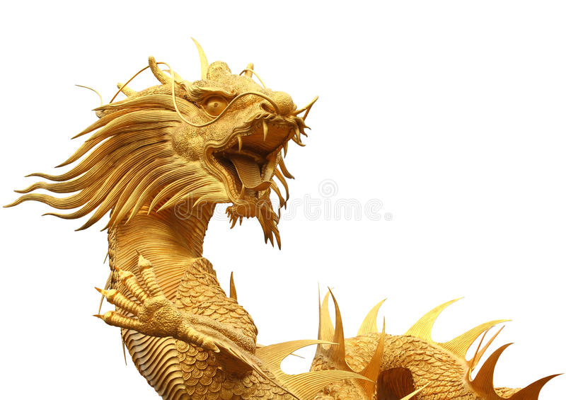 Chinese dragon. Isolated on white background stock photo