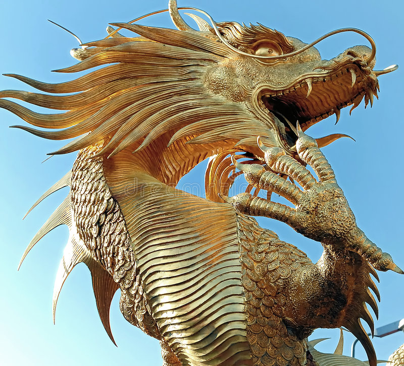 Download Chinese dragon stock photo. Image of frame, statue, summer - 3750802