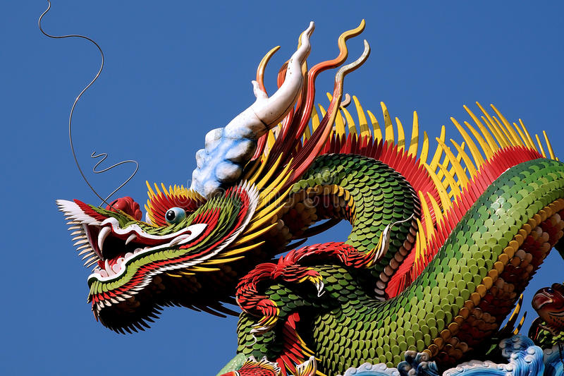 Chinese Dragon, temple in Taoyuan, Taiwan royalty free stock photo