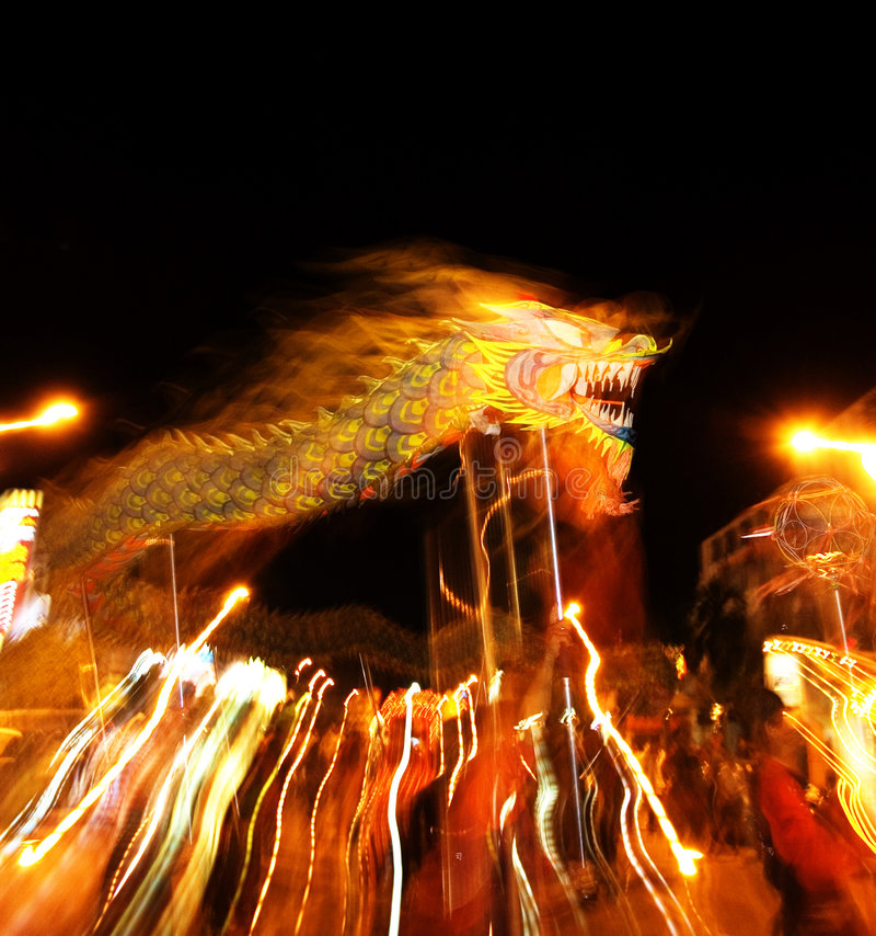 Download Chinese dragon dance stock image. Image of celebration - 2603709