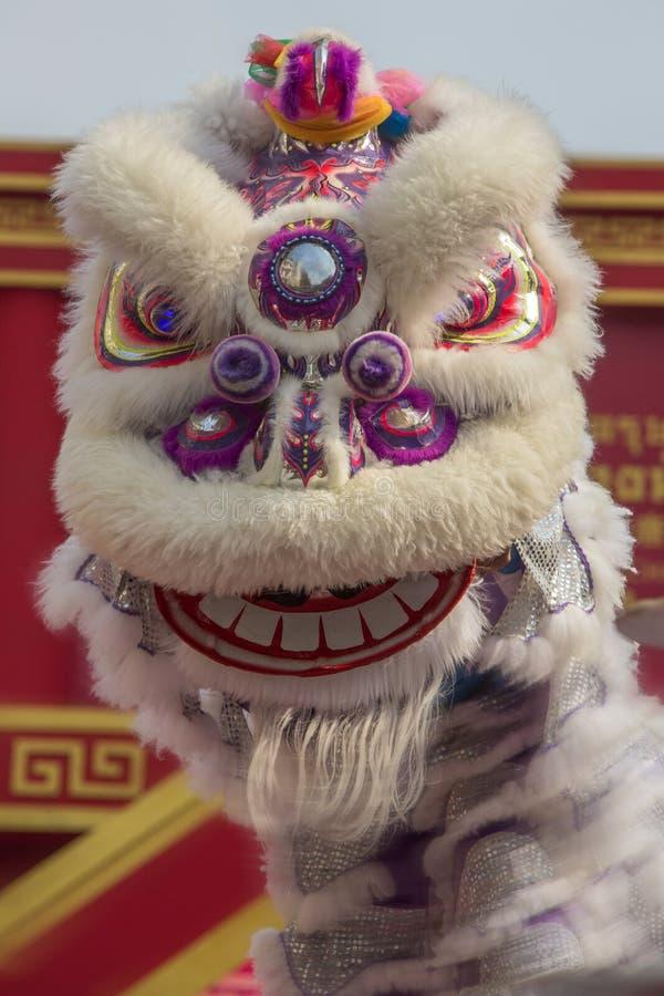 Chinese Dragon Dance - Bangkok - Thailand stock photo