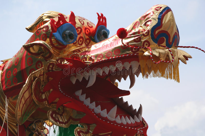 Chinese dragon-dance royalty free stock image