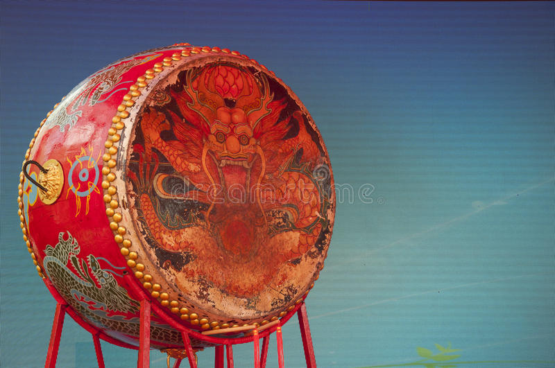 Chinese Dragon Drum lizenzfreies stockfoto