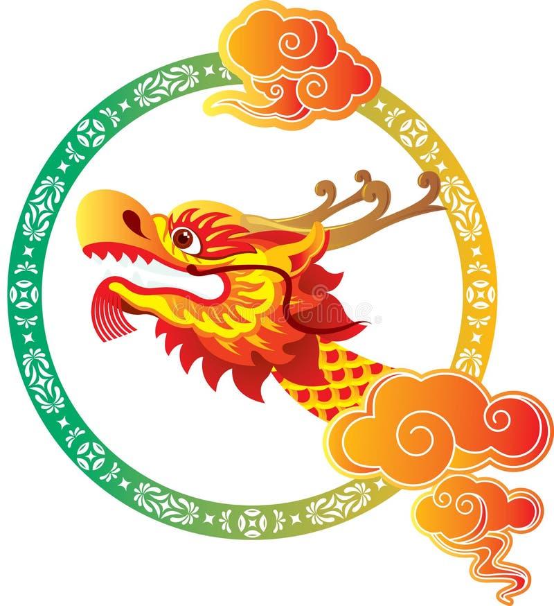Free Chinese Dragon Head Art Design Royalty Free Stock Photos - 29787848