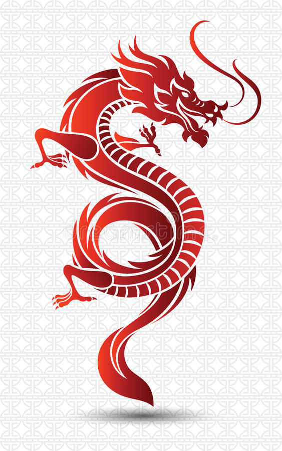Chinese Dragon. Illustration of Traditional chinese Dragon ,vector illustration