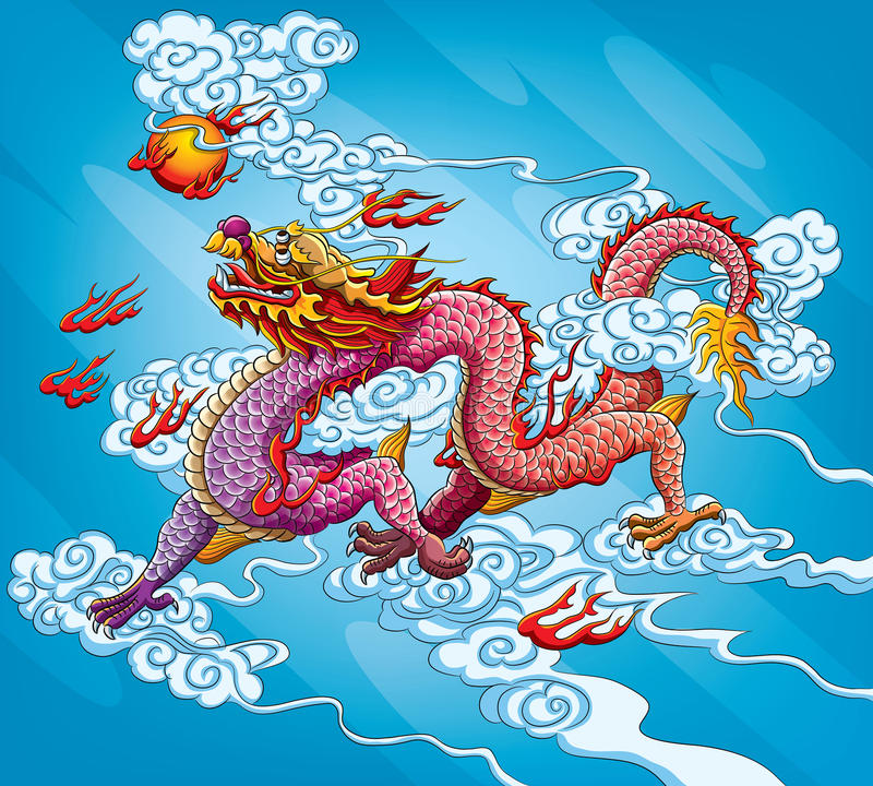 Chinese Dragon Painting royalty free illustration