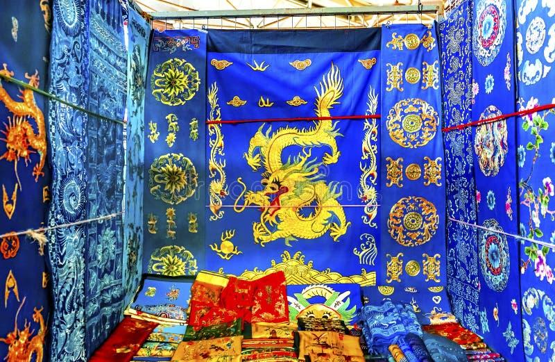 Chinese Dragon Replica Silks Panjuan Flea Market Decorations Be stock image