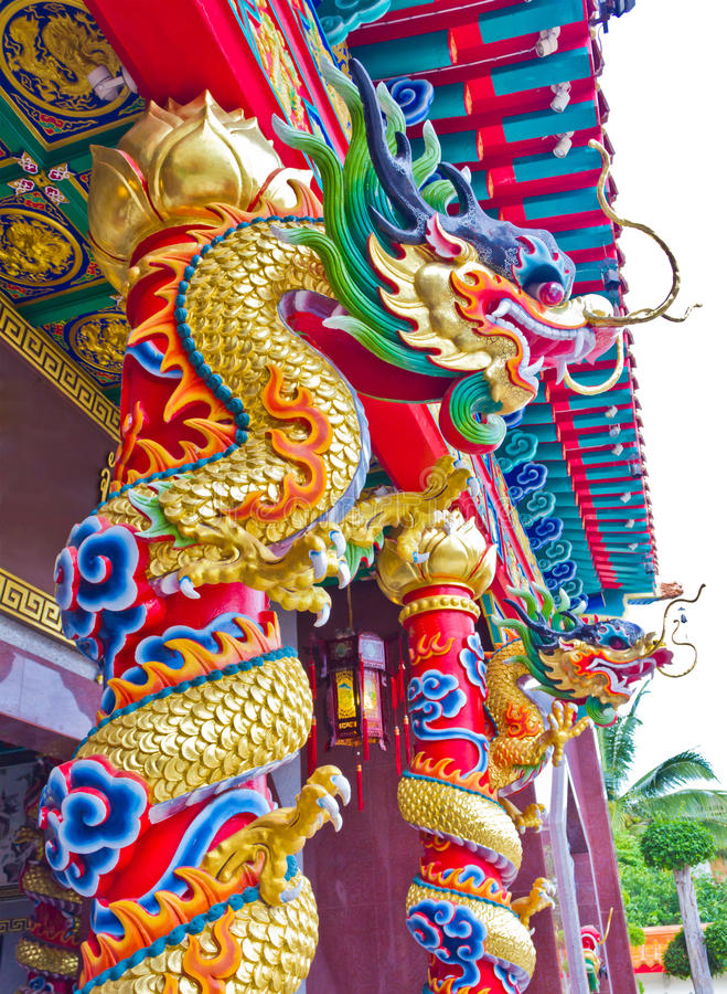 Chinese dragon statue royalty free stock photos