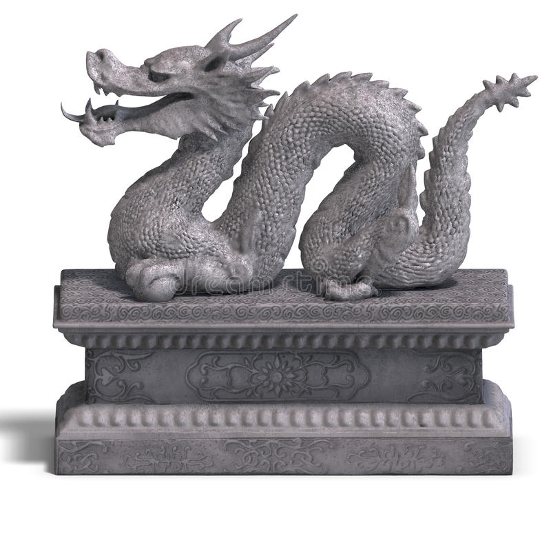 Chinese Dragon Stone Statue Stock Photos