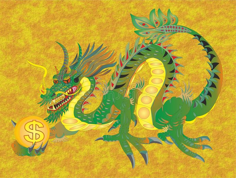 CHINESE DRAGON TO MONEY AND RICHES. Chinese dragons also penetrated other Asian countries that somehow got under the Chinese influence. However, there are some vector illustration
