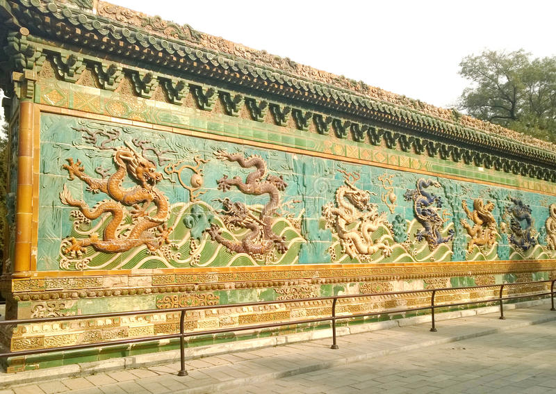 Chinese dragon wall stock image. Image of architecture - 49073689