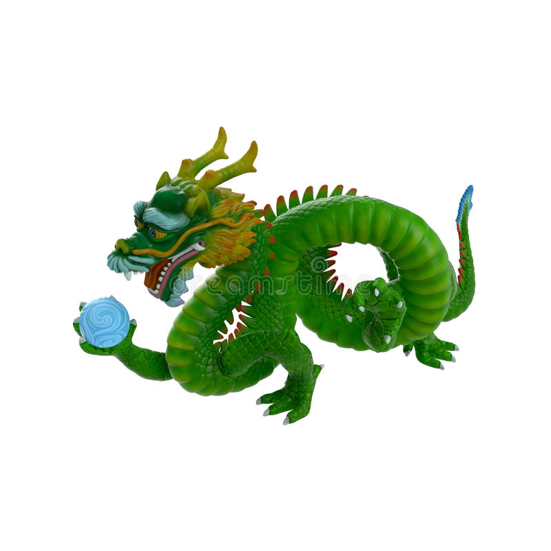 Chinese Dragon on White Background vector illustration