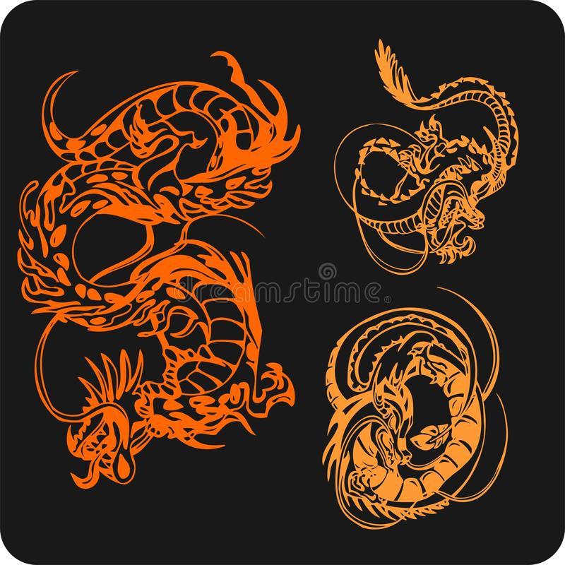 Download Chinese Dragons - Vector Set. Stock Vector - Illustration: 32826090