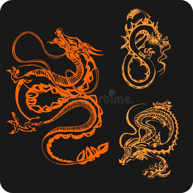 Download Chinese Dragons - Vector Set. Stock Vector - Illustration of zodiac, 2012: 32826105