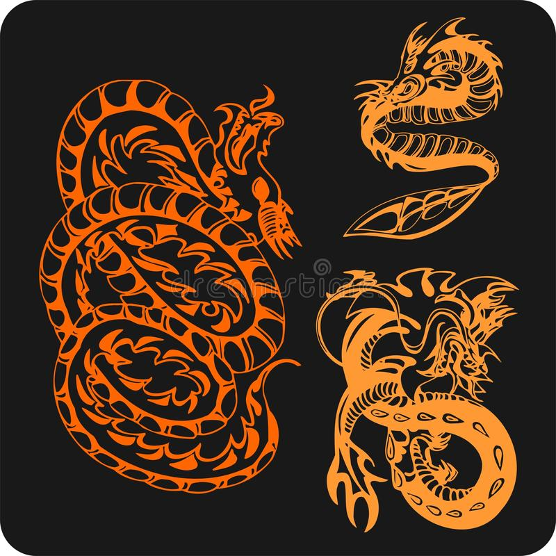Download Chinese Dragons - Vector Set. Stock Vector - Illustration of monster, east: 32826129