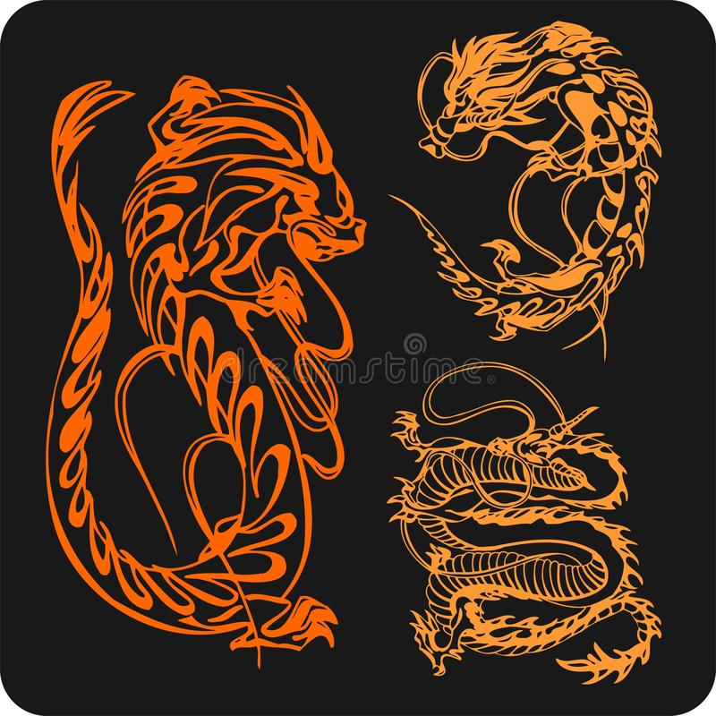 Download Chinese Dragons - Vector Set. Stock Photos - Image: 32826133