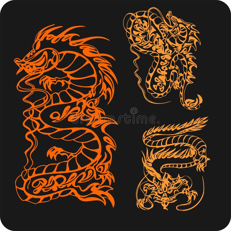 Download Chinese Dragons - Vector Set. Stock Vector - Image: 32826137