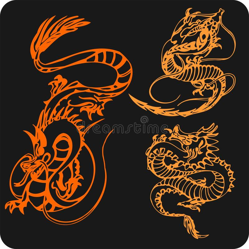 Download Chinese Dragons - Vector Set. Stock Vector - Image: 32826187