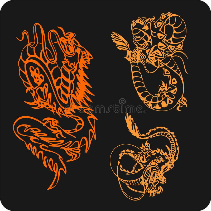 Download Chinese Dragons - Vector Set. Stock Vector - Image: 32826213