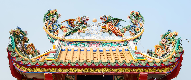 Chinese draken royalty-vrije stock afbeelding