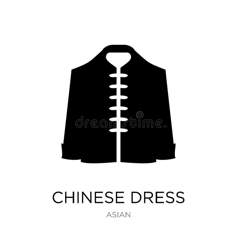 chinese dress icon in trendy design style. chinese dress icon isolated on white background. chinese dress vector icon simple and stock illustration