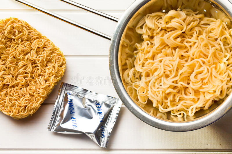 Chinese dried and boiled noodles royalty free stock photography