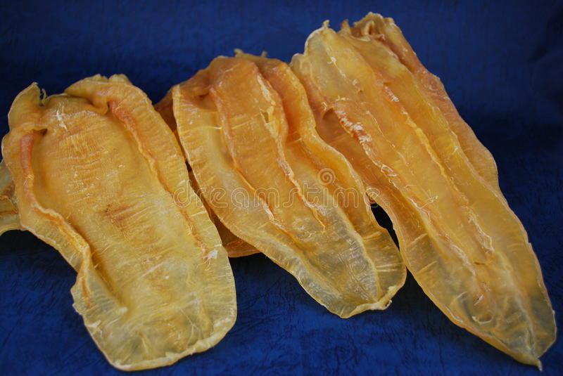 Chinese dried food dried fish gas bladder stock images