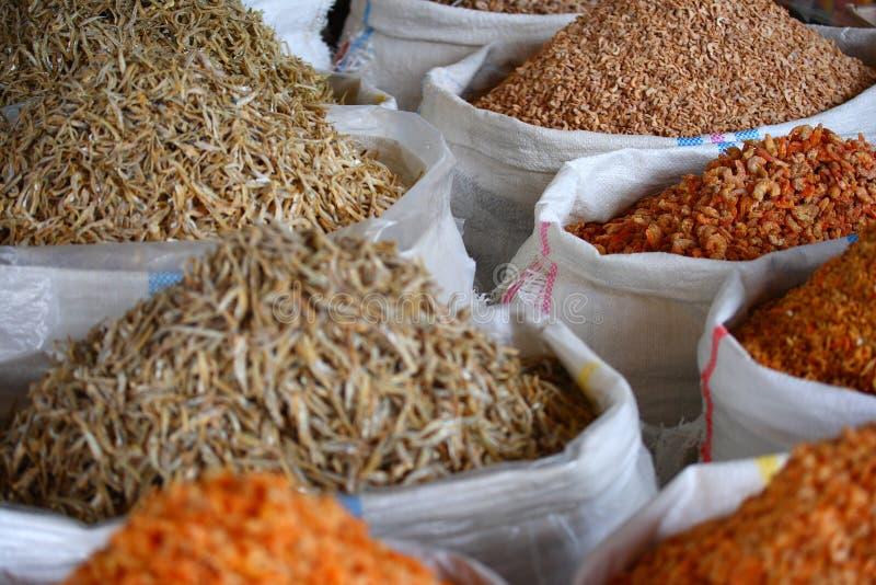 Chinese droge garnalen stock fotografie